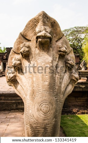 singh statue Prasat Hin PimaI Thailand,statue in Buddhist Thailand  temple or wat,  are public  domain  or treasure of Buddhism ,no restrict in copy or use . This photo  taken   these  conditions