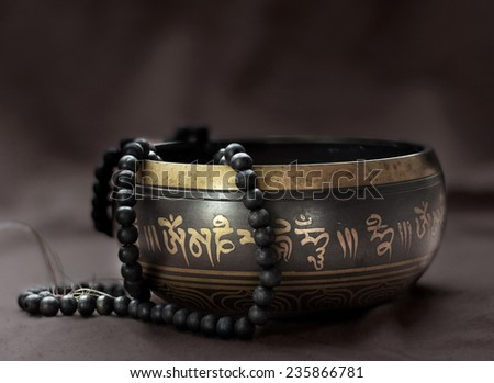 singing bowl - stock photo