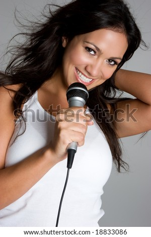 Singing Girl - stock photo