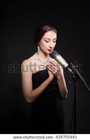 Singing Girl with a microphone