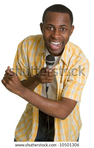 Singing Man - stock photo