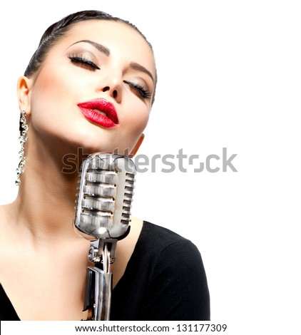 Singer stock photos illustrations and vector art