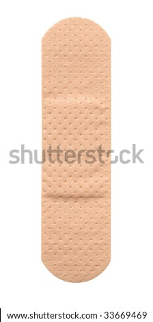 Single band aid plaster on white background - stock photo