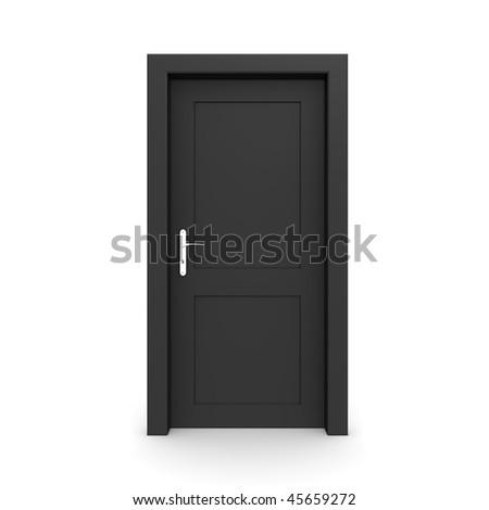 Black door frame