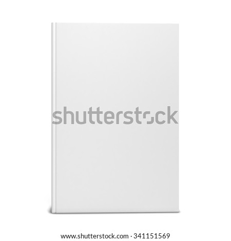 Single blank book. 3d illustration isolated on white background