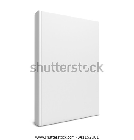 Single blank book. 3d illustration isolated on white background  - stock photo