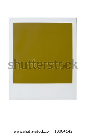 Single blank poloroid film isolated on a white background - stock photo
