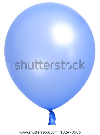 Single blue  balloon  - stock photo