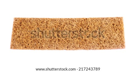 Single bread cracker snack isolated over the white background