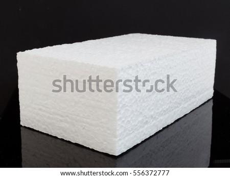 Single Brick Block White Styrofoam On Stock Photo 556372777