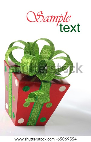 Single Christmas present. - stock photo