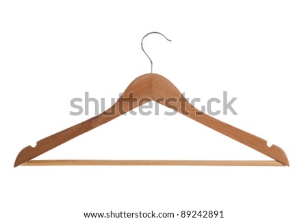 Single clothe hanger isolated on white background. Included clipping path, so you can easily cut it out and place over the top of a design.