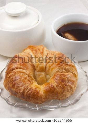 Single Croissant with beverage