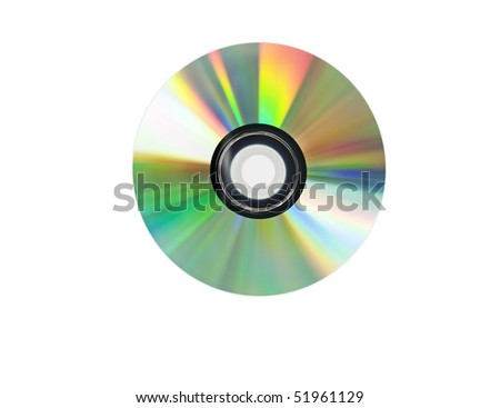 Single disc cd  isolated on white background. - stock photo