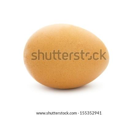 single egg isolated on white background - stock photo
