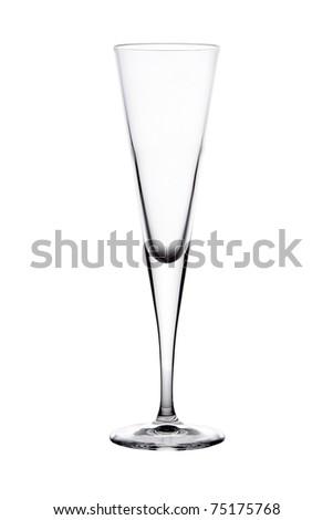 Single empty wine glass - stock photo
