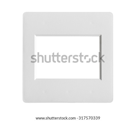 single frame slide without film isolated on white - stock photo