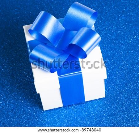 Single gift box - stock photo