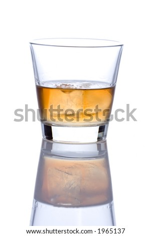 Single glass of alcohol