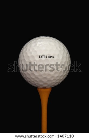 Single golf ball - stock photo