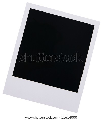 Single high resolution old instant photo film blank isolated on white background - stock photo