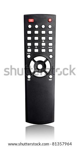 Single infrared universal remote control for media center. - stock photo