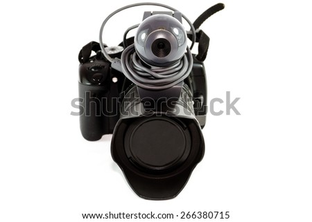Single Lens Reflex Camera with Web Cam