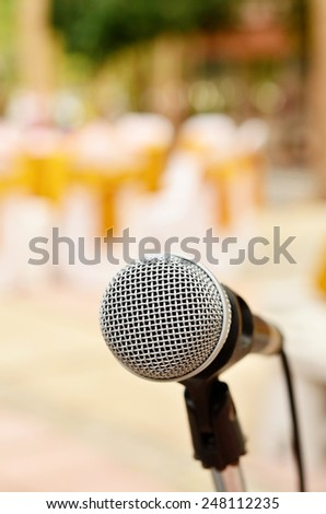 Single Microphone in the blur background