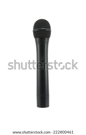 Single microphone isolated on white