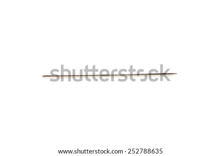 Single Needle. Shoot over white background. Focus on the closes part. shallow depth of field. - stock photo