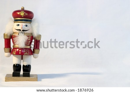 single nutcracker left - stock photo
