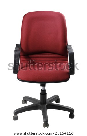 Single office chair on white background - stock photo