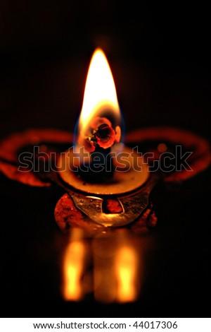 Single Oil Lamp - stock photo