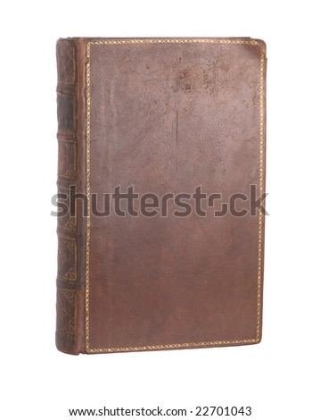 Single old leather bound book
