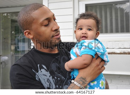 Single Parent Family Father Infant Girl