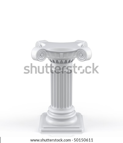 Single pedestal (3d render)
