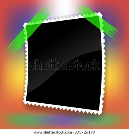 Single Photo Frame - stock photo