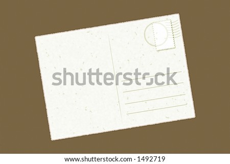 single postcard Easy to personalize - stock photo