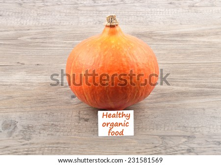 Single Pumpkin  - stock photo