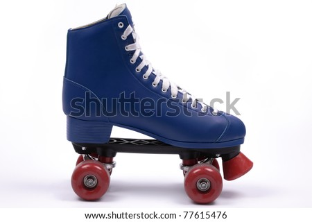 Single quad skate, isolated - stock photo
