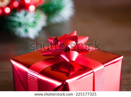 Single red gift box
