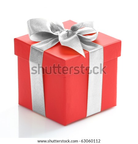 Gift box stock images royalty free images vectors shutterstock single red gift box with silver ribbon on white background negle Choice Image