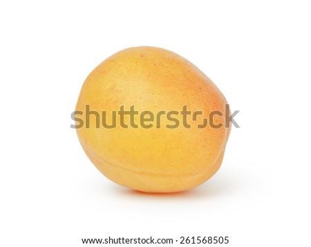 single ripe apricot fruits isolated - stock photo