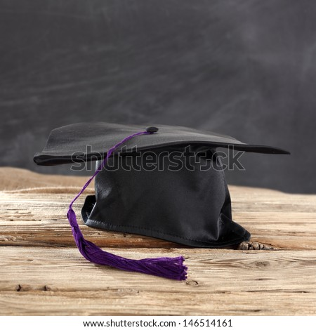 single school hat  - stock photo
