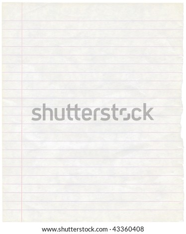 Single sheet of old grungy note paper background texture - stock photo