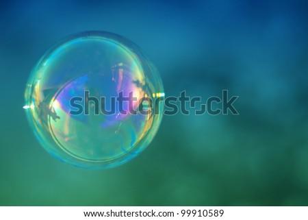Single soap bubble - stock photo