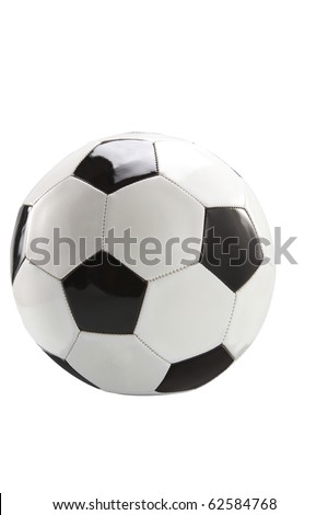 Single soccer ball isolated on plain background, clipping path included - stock photo