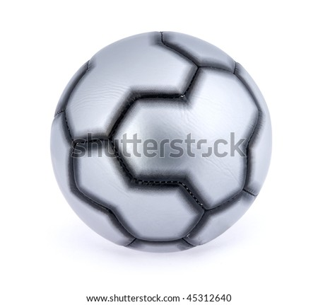 Single soccer ball over white background with clipping path