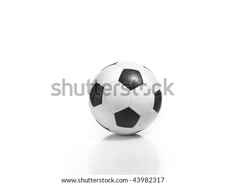 Single soccer of football isolated on white background. - stock photo