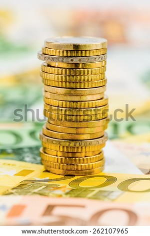 single stack of money coins symbol photo for financial planning, investment, investments - stock photo